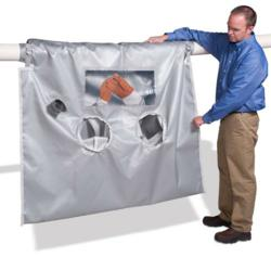 Grayling Industries Introduces a Line of Specialty Glovebags Designed for Asbestos Removal on Pipes at Elevated Temperatures