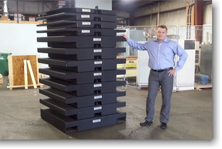 "Wyoming USA: Hoist & Crane Company Takes Delivery of ""Black Beauty"" Stackable Test Weight System"